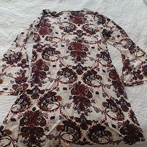 Dresses - Keyhole front bell sleeve dress